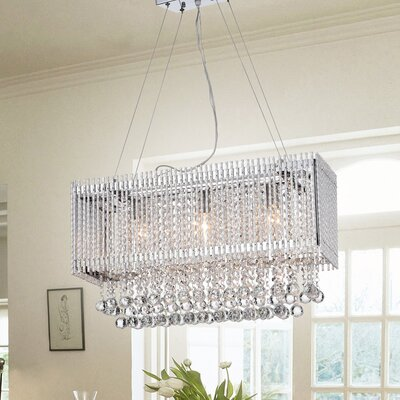 Mcglynn 3-Light Crystal Chandelier