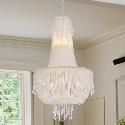 Mcglothin Draping Pearls 5-Light Crystal Chandelier