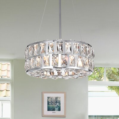 Mcglone 3-Light Crystal Pendant