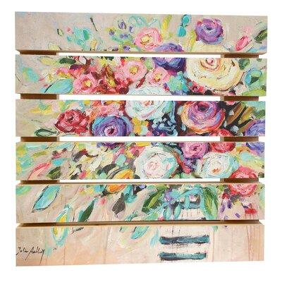 'Vibrant Bouquet' Print on Wood 624CA63BAD134AC69DCDCE15518CB5B2