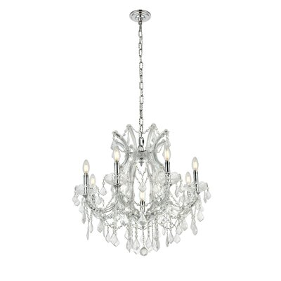 Regina Traditional 9-Light Crystal Chandelier Finish / Crystal Finish / Crystal Trim: Chrome / Crystal (Clear) / Royal Cut