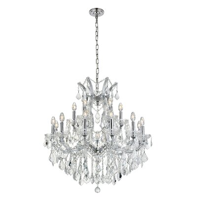 Regina Traditional 19-Light Crystal Chandelier Finish / Crystal Finish / Crystal Trim: Chrome / Crystal (Clear) / Royal Cut