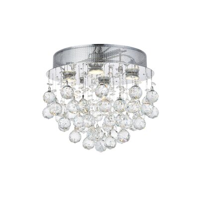 Colne 4-Light Flush Mount Crystal Grade: Elegant Cut