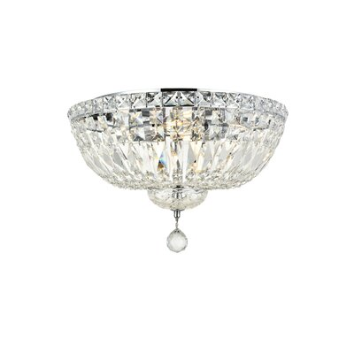 Fulham 6-Light Flush Mount Finish: Chrome, Crystal Grade: Chrome / Elegant Cut