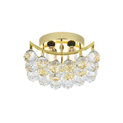 Hatton 4-Light Semi Flush Mount Finish: Gold, Crystal Grade: Spectra Swarovski