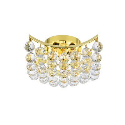 Gorbold  4-Light Flush Mount Finish: Gold, Crystal Grade: Spectra Swarovski