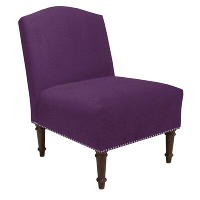 Jack Nail Button Camel Side Chair Color: Velvet Aubergine
