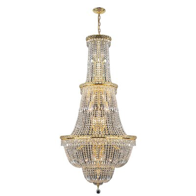 Carson 34-Light Crystal Chandelier Finish: Gold