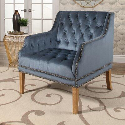 Odell Manor Tufted Velvet Arm Chair