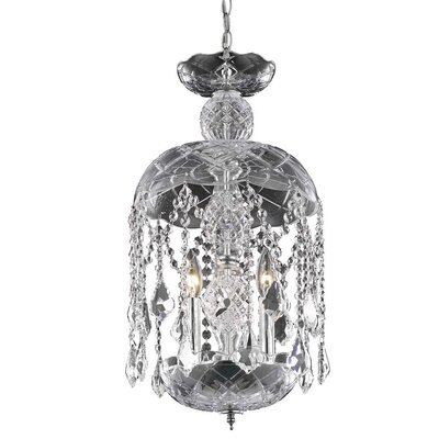 Carmen 3-Light Crystal Pendant Finish: Chrome