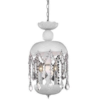 Carmen 3-Light Crystal Pendant Finish: White