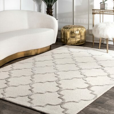 Noirmont Hand-Woven Nickel Area Rug Rug Size: Rectangle 12 x 18