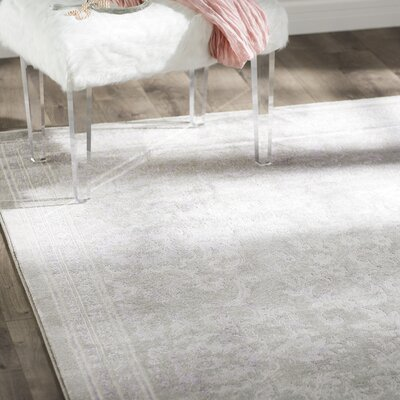 Becontree Gray/Lavender Area Rug Rug Size: Rectangle 4 x 57