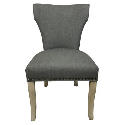 Morning side Sleek Drive Upholstered Dining Chair Upholstery: Gray