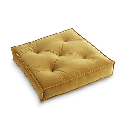 Asaad Pad Floor Pillow Pillow Cover Color: Gold