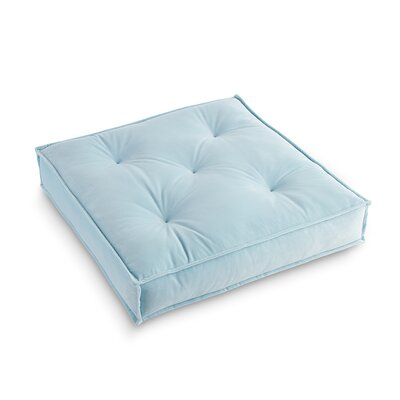 Asaad Pad Floor Pillow Pillow Cover Color: Ice Blue