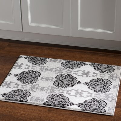 Margerite Grey Area Rug Rug Size: Rectangle 2 x 3
