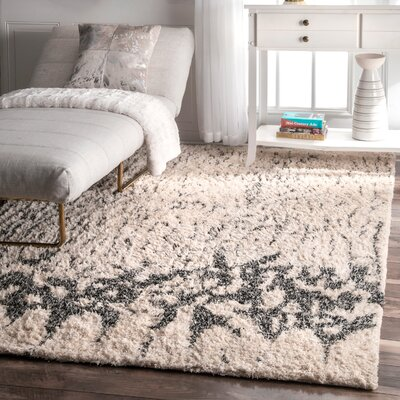 Larkson Ivory Area Rug Rug Size: Rectangle 4 x 6