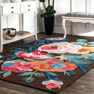 Esher Handmade Pink/Brown Area Rug Rug Size: Rectangle 5 x 8