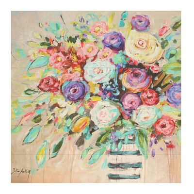 'Vibrant Bouquet' Print on Wood 624CA63BAD134AC69DCDCE15518CB5B2