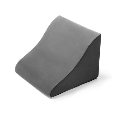 Avana Back Rest Memory Foam Back and Lumbar Pillow Color: Grey/Black