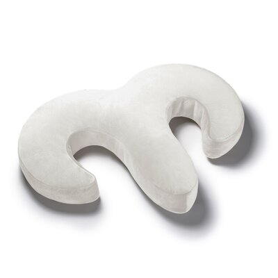 Avana Duo Side Sleeper Memory Foam Snuggle Pillow Color: Cloud/Camel