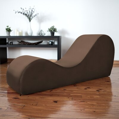 Symons Yoga Chaise Lounge Upholstery: Brown