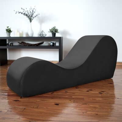 Symons Yoga Chaise Lounge Upholstery: Black