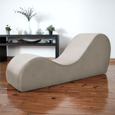 Symons Yoga Chaise Lounge Upholstery: Beige