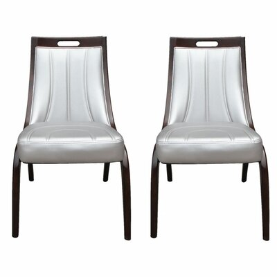 Barrel Side Chair Upholstery: Silver