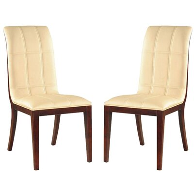 Caseareo Upholstered Dining Chair Upholstery: Cream