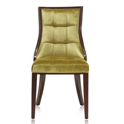 Barrel Upholstered Dining Chair Upholstery: Green Velvet