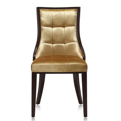 5th Ave Parsons Chair Upholstery: Gold
