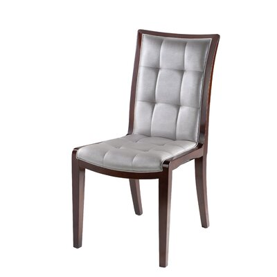 King Parsons Chair Upholstery: Silver