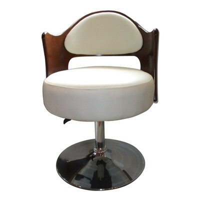 Caravan Adjustable Leather Barrel Chair