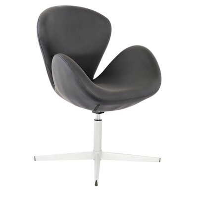 Swan Arm Chair Upholstery: Black