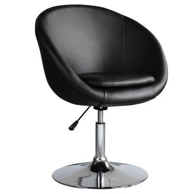 Barrel Adjustable Leisure Barrel Chair Upholstery: Black