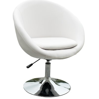 Barrel Adjustable Leisure Barrel Chair Upholstery: White