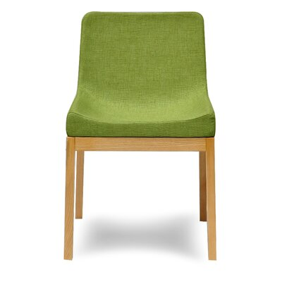 Soho Side Chair Upholstery: Green