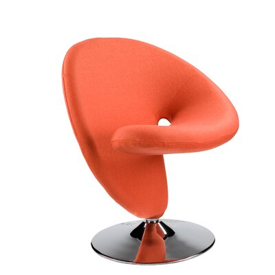 Ziggy Lounge Chair Upholstery: Orange