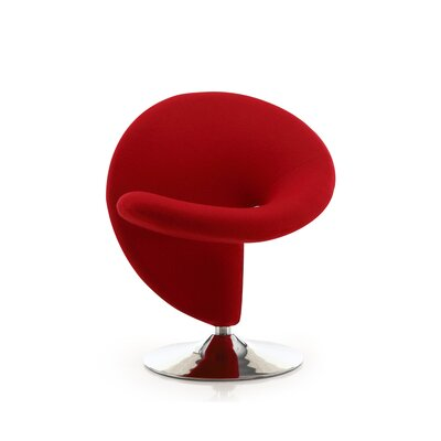 Herkimer Lounge Chair Upholstery: Red