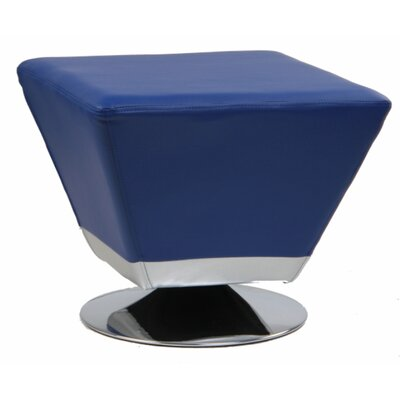 Cube Swivel Ottoman Upholstery: Blue