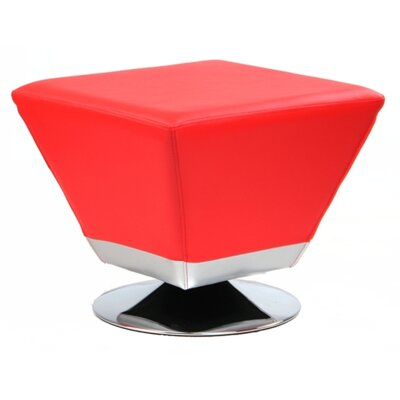 Cube Swivel Ottoman Upholstery: Passion Red