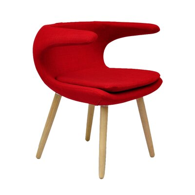 Ramonita Lounge Chair Color: Red