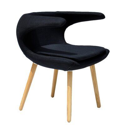 Clipper Lounge Chair Color: Black