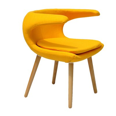 Clipper Lounge Chair Color: Yellow