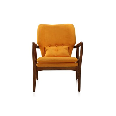 Madison Ave Arm Chair NCAA Team: Mandarin Yellow