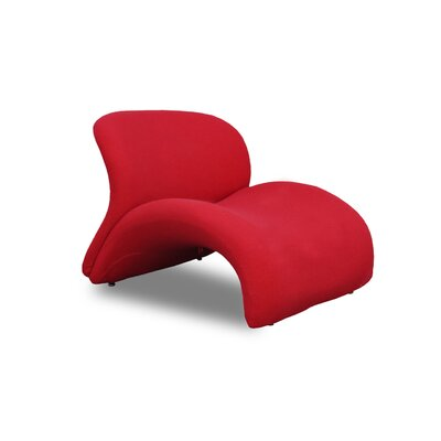 Harlem Sweet Lip Lounge Chair Upholstery: Red