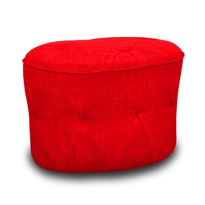 Luxe Tufted Ottoman Upholstery: Red