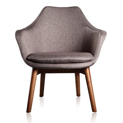 Cronkite Leisure Arm Chair Upholstery color: Grey